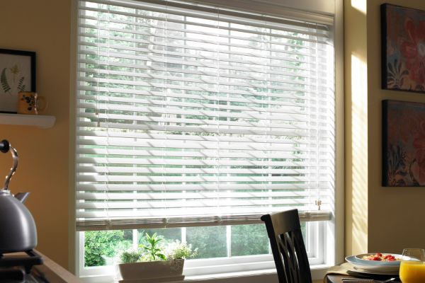 Stock Plantation Faux Wood Blinds