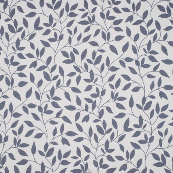 Roller Shades - Olive Leaves Light Filtering Fabric Liner China Blue 113PR016