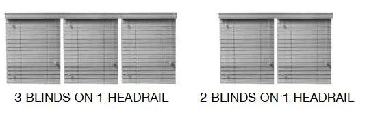 Casey multiple blinds one bottom rail